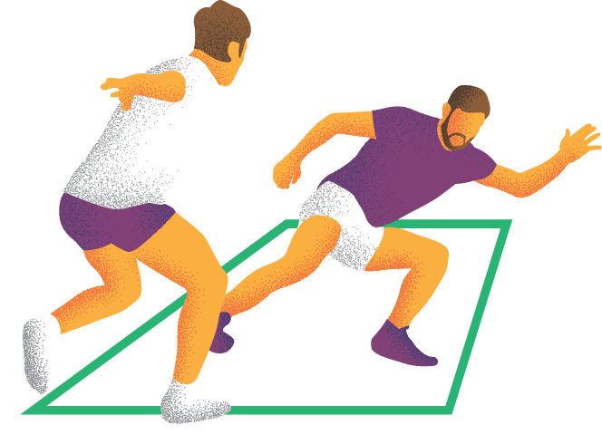 Kabaddi Action Illustration